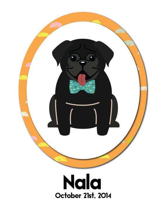 Personalized Dog Portraits  Shih Tzu Pug by wonderlanddesigntx