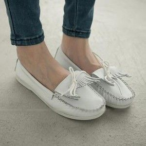 Genuine Leather Fringed Loafers - my faaaaves