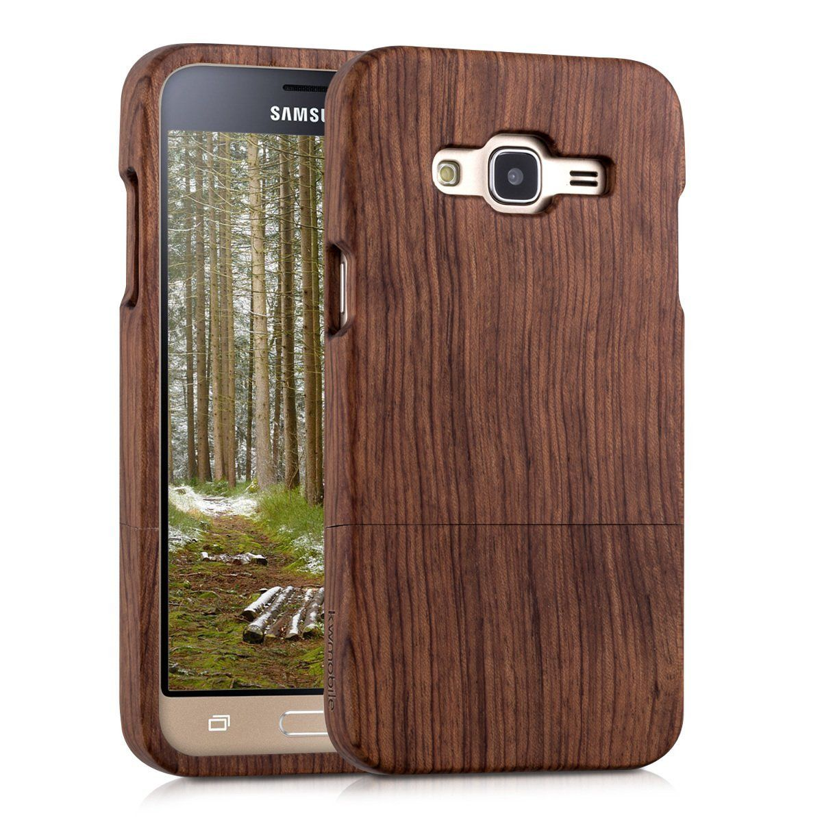 separation shoes 2b2c7 74031 Amazon.com: kwmobile Natural wood case for the Samsung Galaxy J3 ...