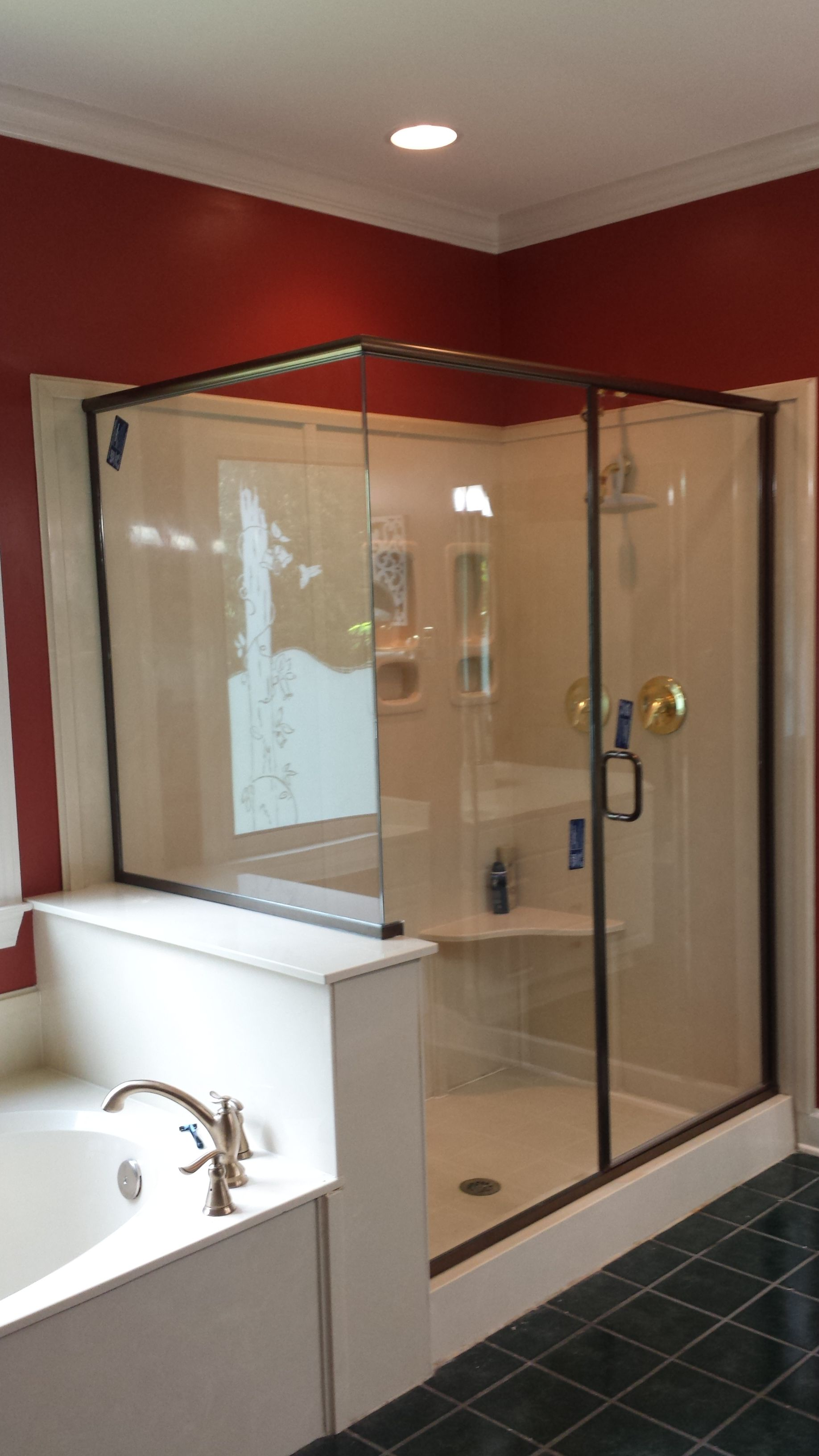 Freestyle Shower Without Post At Corner Tub Shower Combo
