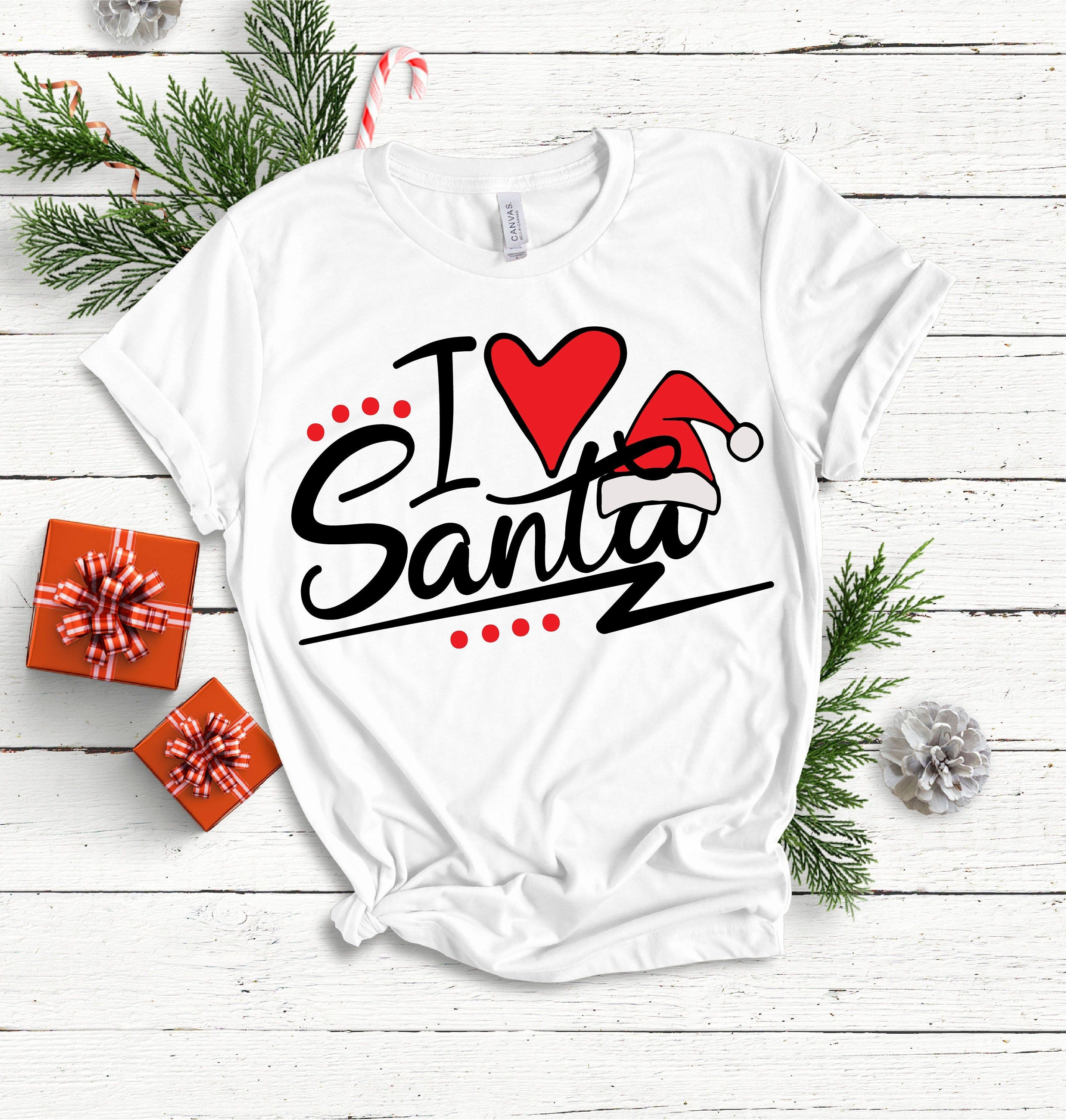 I love Santa SVG, SVG files,Christmas SVG, Cricut files