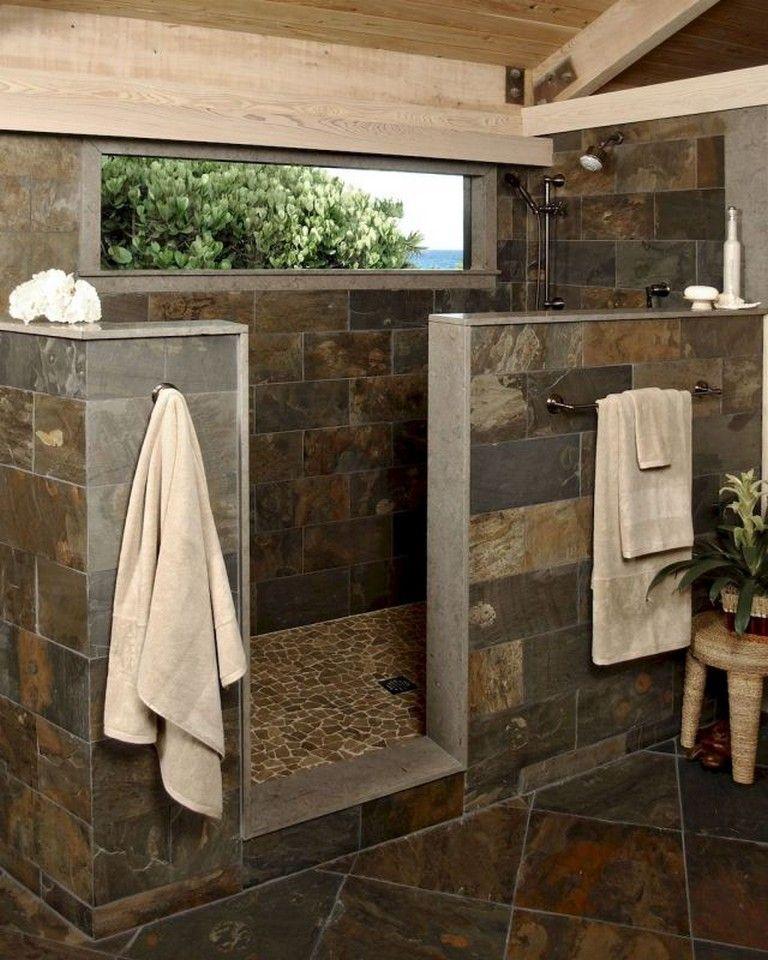 70 Handsome Farmhouse Bathroom Decor Ideas #rusticbathroomdesigns