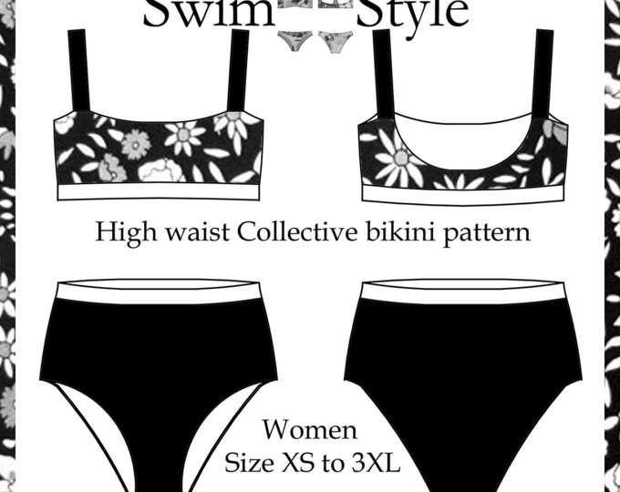 Celeste High cut bikini sewing pattern Women | Bikini | Pinterest ...