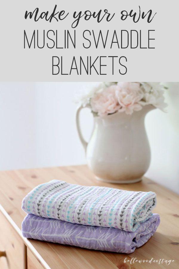 DIY Muslin Swaddle Blankets - Bellewood Cottage
