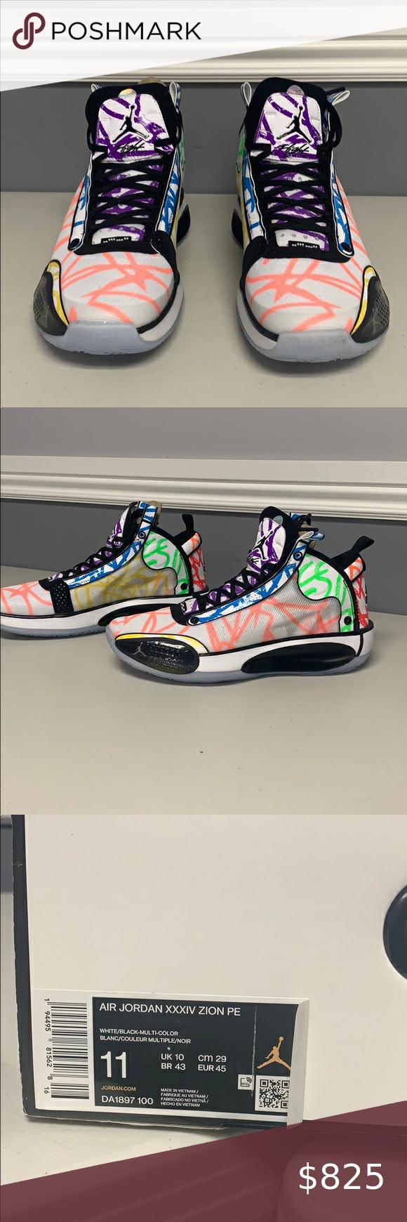 Jordan Xxxiv Zion Pe Jordans For Men Jordans Mens Shoes Sneakers