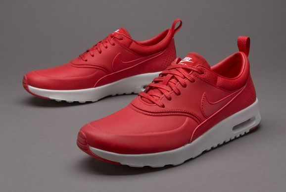 Nike Womens Air Max Thea Premium University Red White nike air max