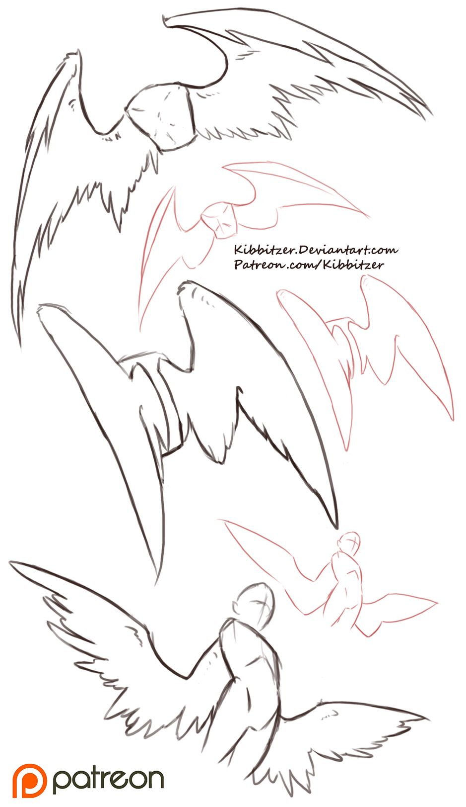 2018 年の wing reference 人外かきかたとか pinterest dessin