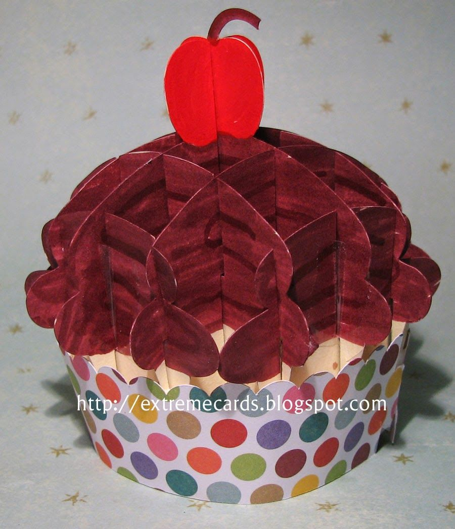 Sliceform cupcake pop up 3d model cut with cameo from paper design sliceform cupcake jeuxipadfo Gallery
