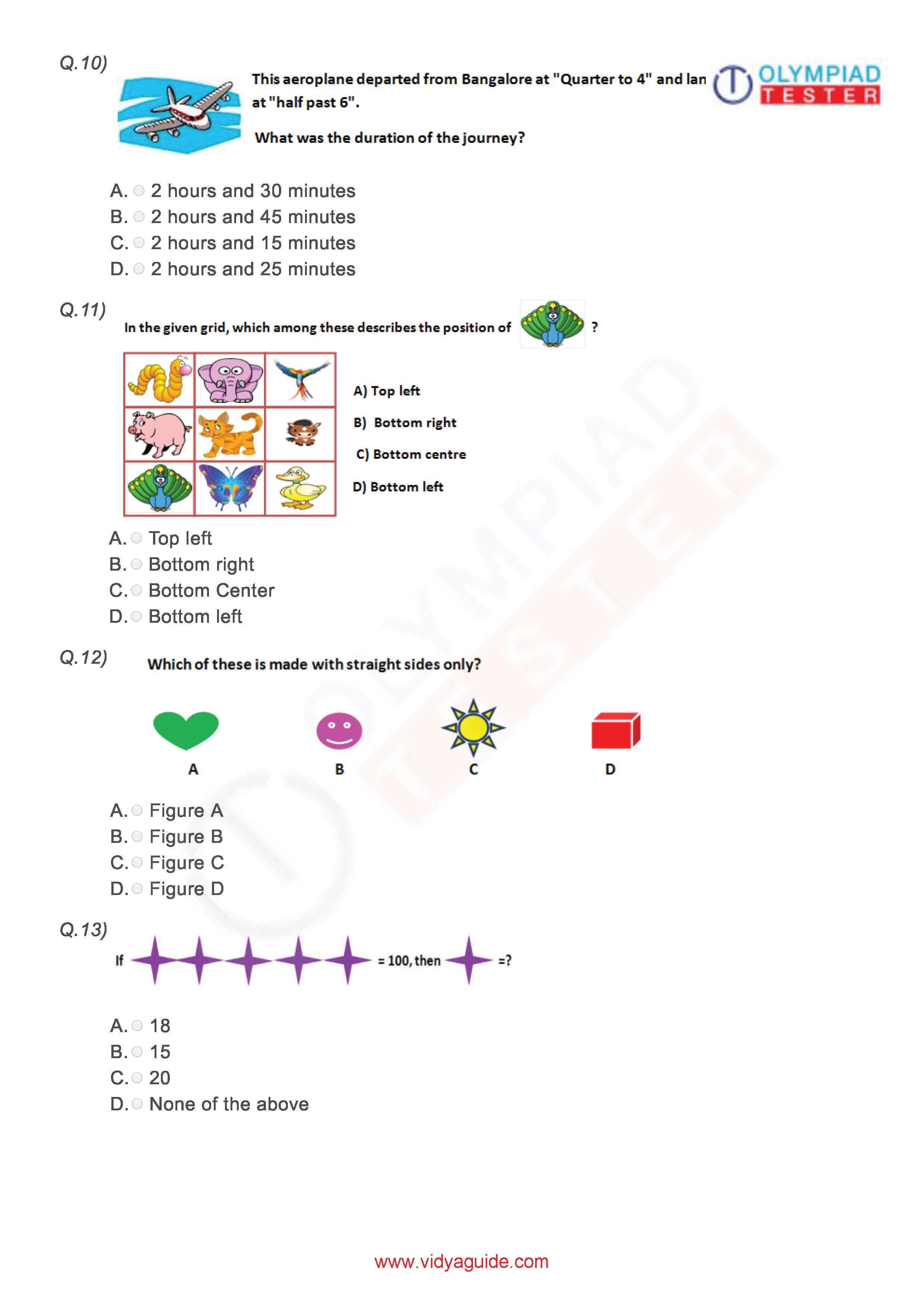 Class 3 Imo Worksheet 01