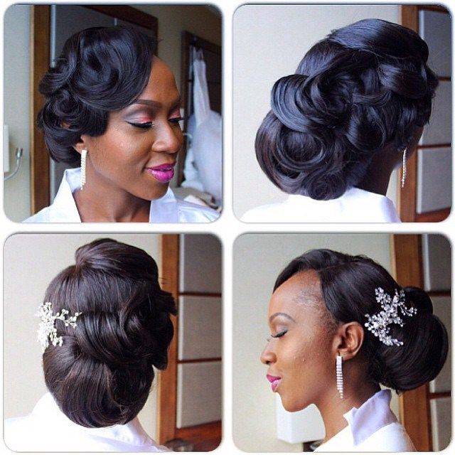 50 Wedding Hairstyles For Nigerian Brides And Black: 30 Gorgeous REAL Bridal Hair Inspiration & Ideas