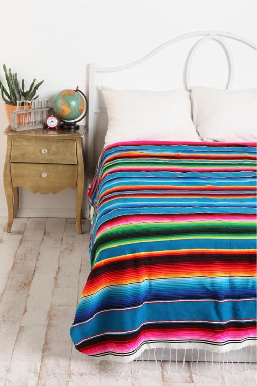 26510b2538 Sarape Bedspread Bedroom Decor