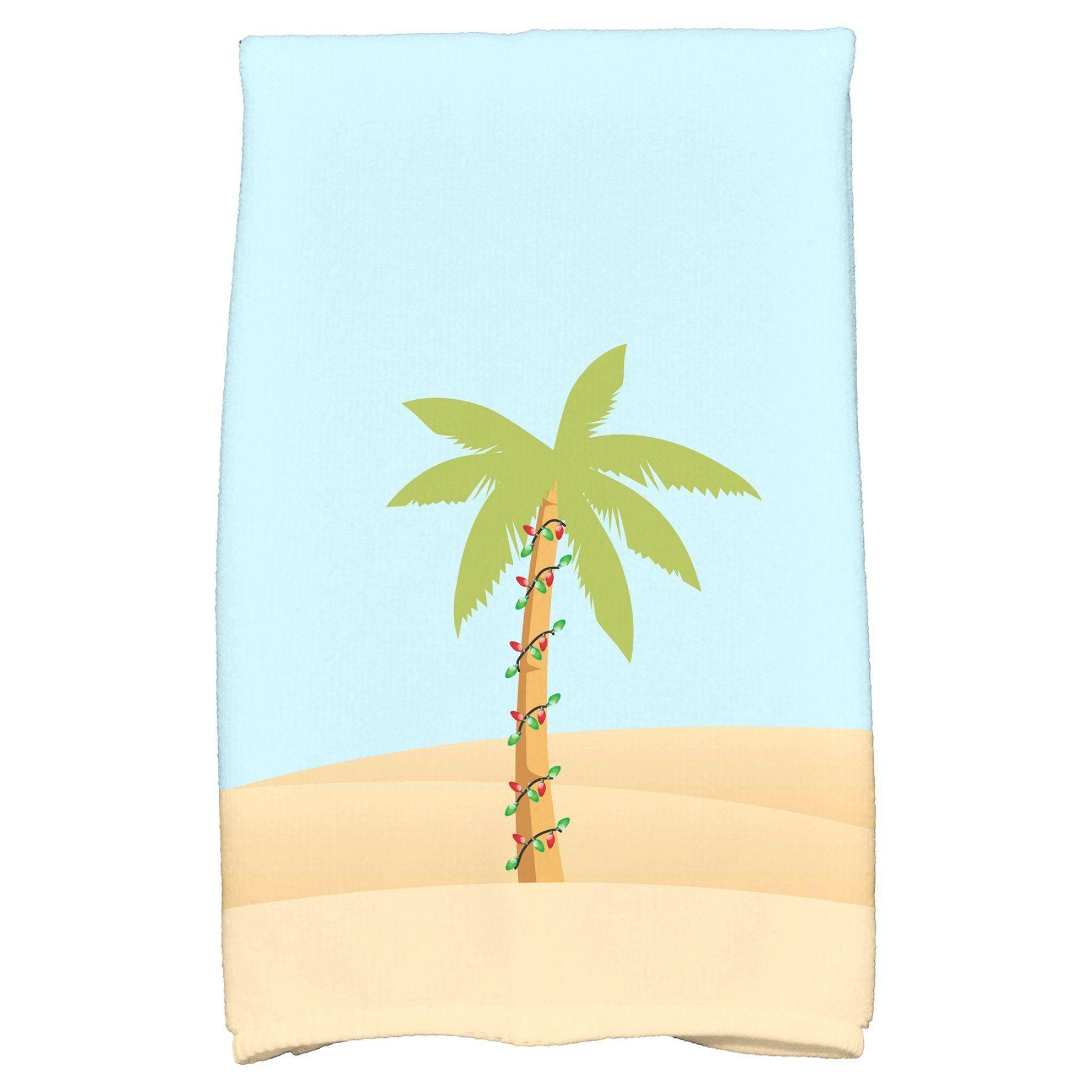 E By Design Coastal Christmas Palm Tree With Christmas Lights