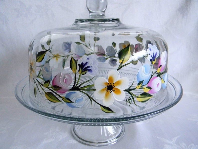 Cake dish covered cake dish glass cake dish with lid cake