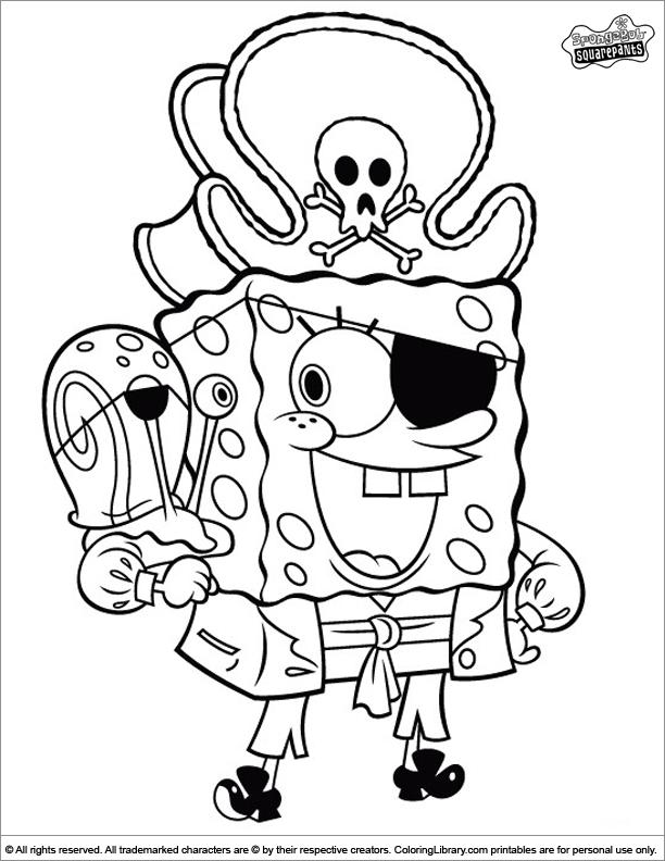 Spongebob Coloring Page Spongebob Coloring Pirate Coloring Pages Spongebob Drawings