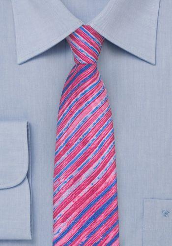 Krawatte dunkelrosa verschwommene Streifen