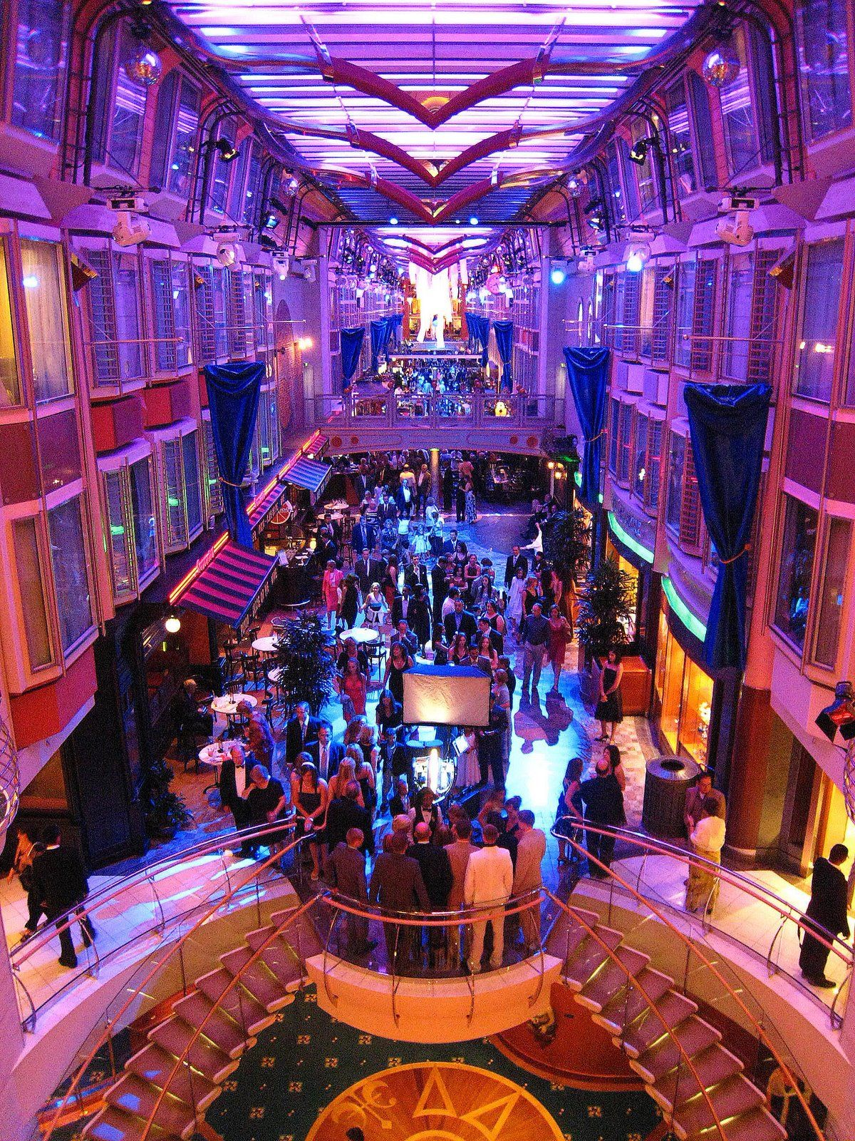 Promenade Of Royal Caribbean S Liberty Book Your Cabin Now At Www Voltvacations Com Liberty Of The Seas Ton Cruise Cruise Ship