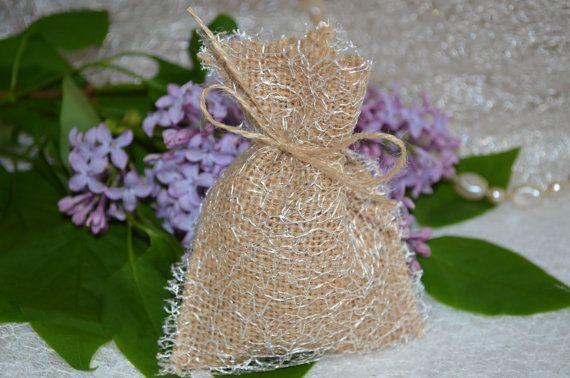 10 x Mini Burlap Favor Bags Hessian Handmade Wedding by SeaSunrays, £9.49