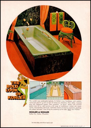 1968 Kohler Of Original Vintage Print Ad 60s Home Decor