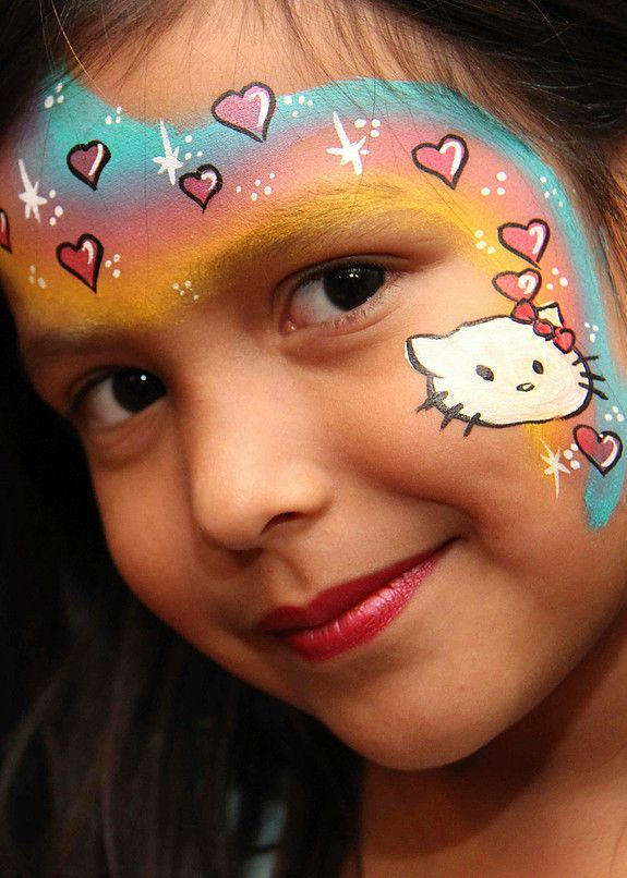 Color Me Face Painting Face Painting Pinterest Kitty Face