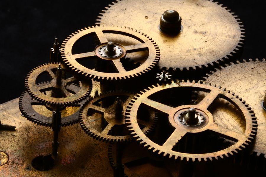 Clock Mechanism Mechanical Art Clock Clockwork