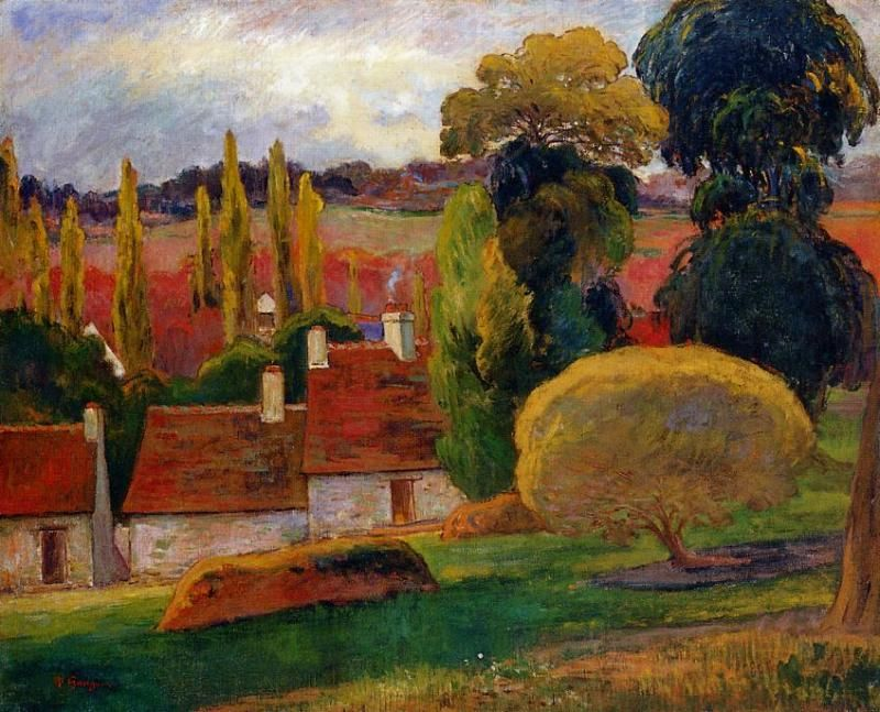 Paul Gauguin Most Famous Painting | Farm in Brittany ...