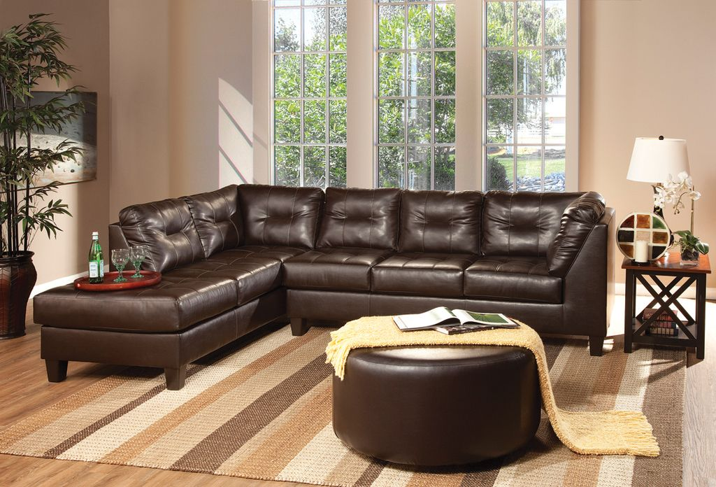 We Have This Elegant Sectional At An Amazing Price Of 599 Stop By Any Of Our Kimbrell S Loca Brown Sectional Sofa Brown Sectional Living Room Brown Sectional