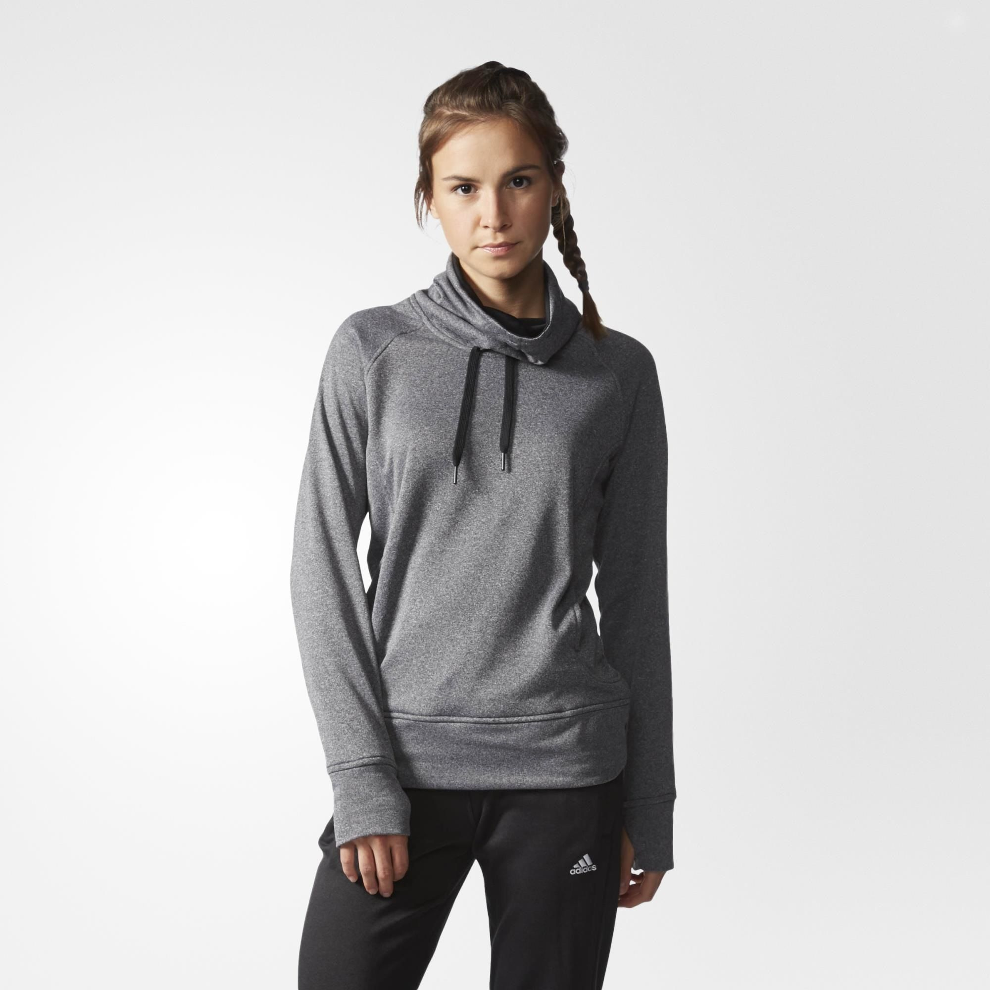 adidas Go-To Fleece Pullover - Grey | adidas US