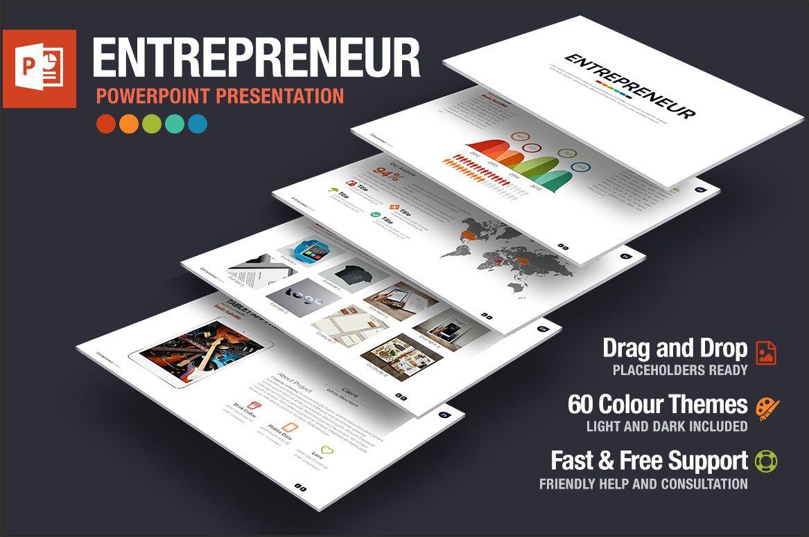 قوالب بوربوينت Entrepreneur Powerpoint Presentation Presentation Templates Presentation Presentation Design Template