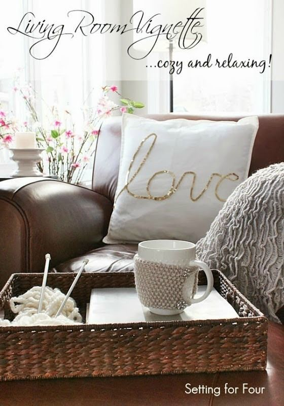 Cozy Living Room Vignette Decor. Relaxing Living RoomsLiving ... Design Inspirations