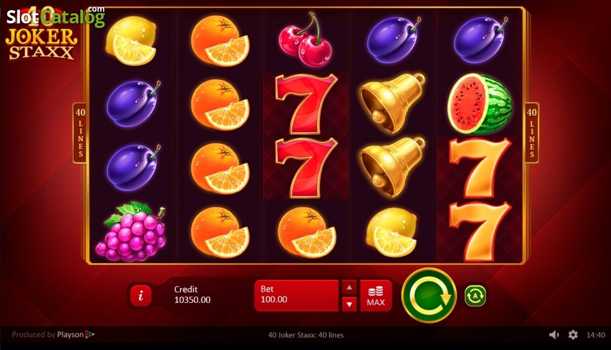 40 Joker Staxx Slot Machine