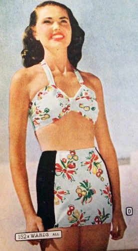 Suits bathing 1940s fashion