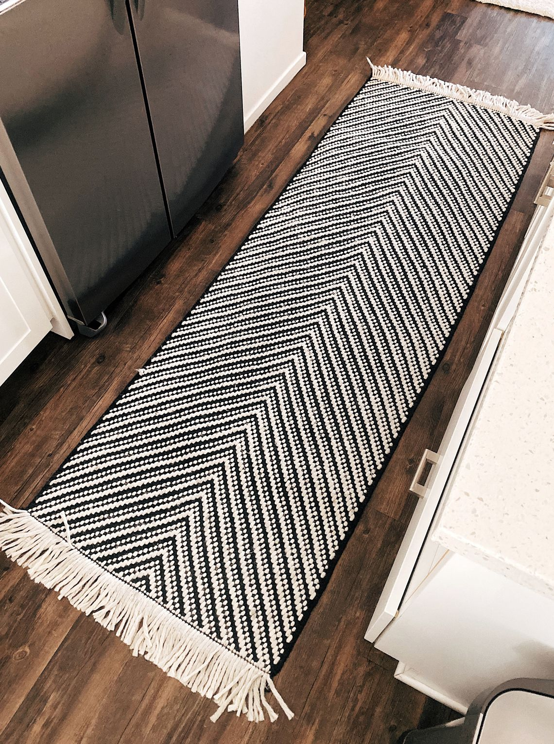 Fashion Jackson Target black white chevron kitchen rug runner in