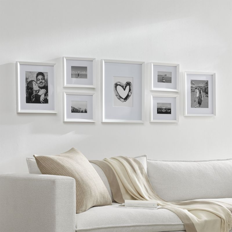 Icon 11x11 White Picture Frame Reviews Crate And Barrel In 2020 Gallery Wall Living Room Picture Wall Living Room Frames On Wall