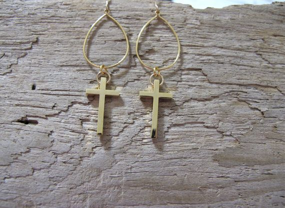 Gold Cross Chandeliers by MariahBennett on Etsy, $30.00