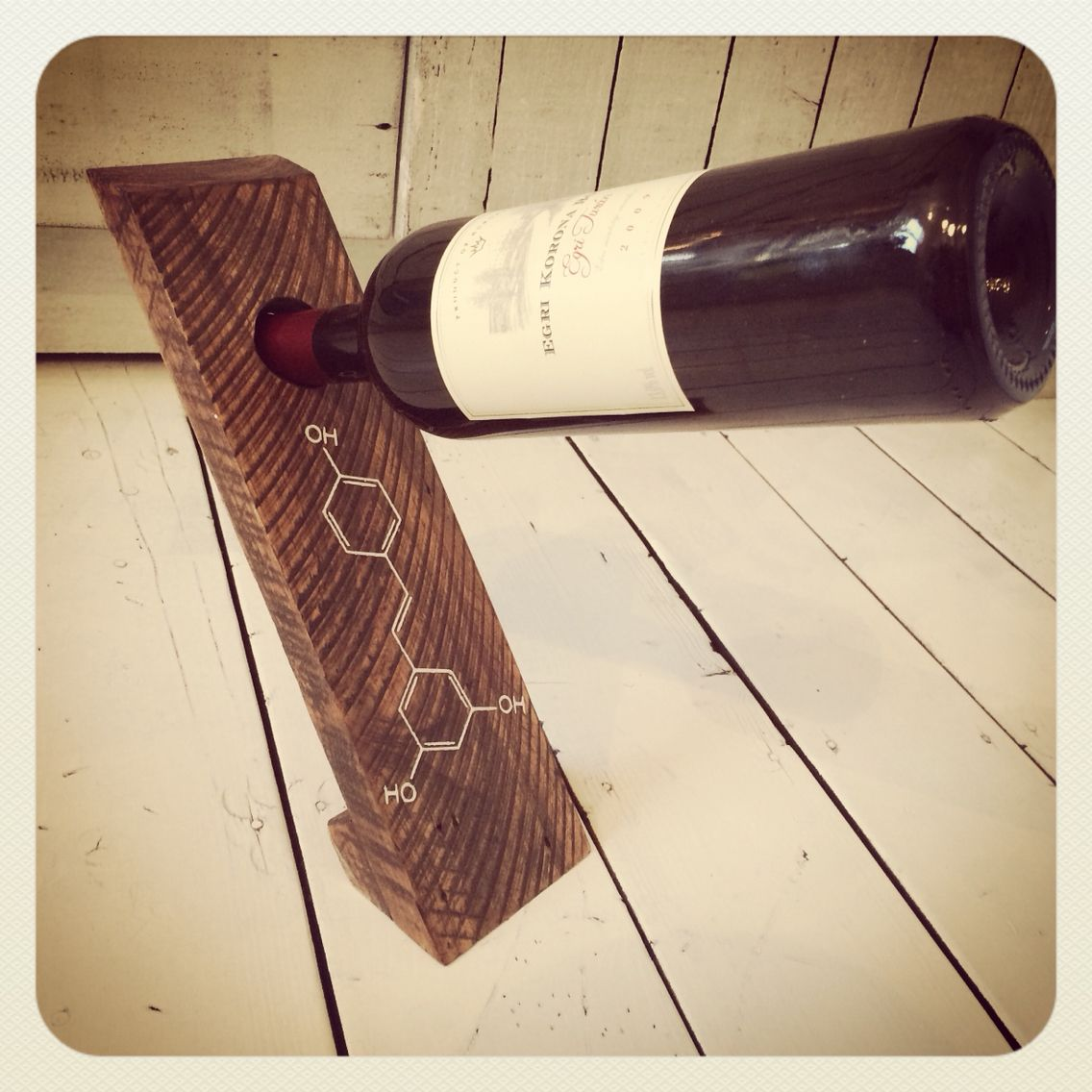 Self Balancing Wine Bottle Holder Made From Used Pallet