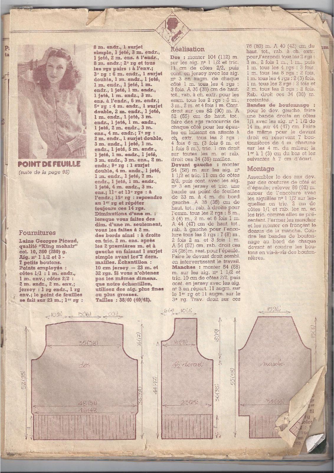 modèles issus de vieux magazines | rosouvrages etc... | Pinterest