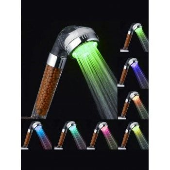 Free Shipping 2018 7 Colors Changing LED Shower Head Multicolor CM Under 1491 In Bathroom Accessories