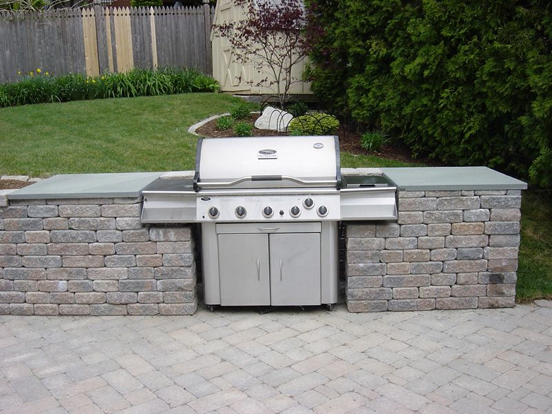 Outdoor kitchen with built in grill find grill outdoor for Built in barbecue grill ideas