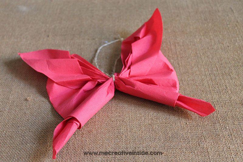 tutorial diy piegare tovagliolo a forma di farfalla facile estate me creativeinside