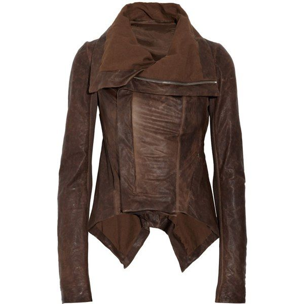 Womens dark brown faux leather jacket