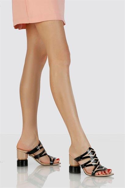 Selin Bayan Terlik Siyah Ilvi Moda Ayakkabilar Terlik Ayakkabilar