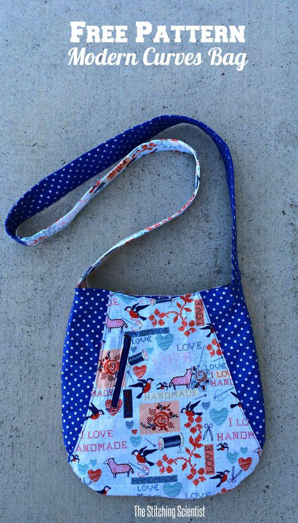 Modern Curves Tote Bag with Free Pattern   Taschen nähen, Nähen und ...