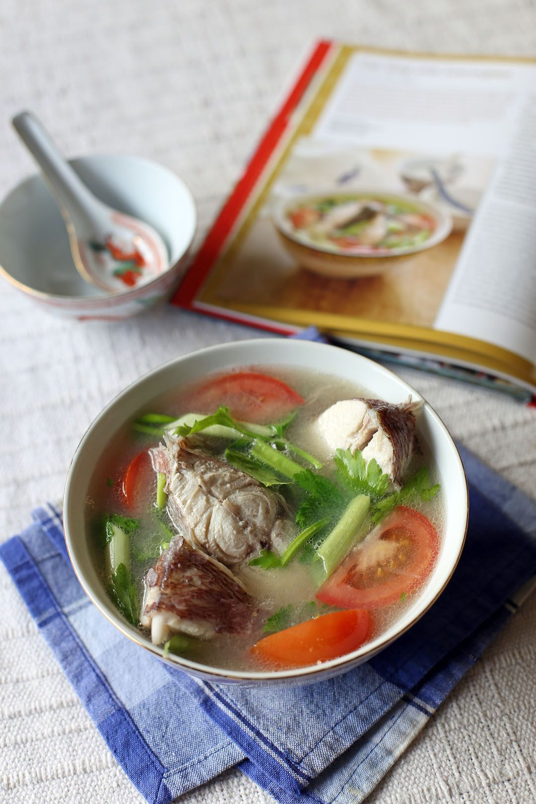 Fish Soup with Lemongrass by @angsarap