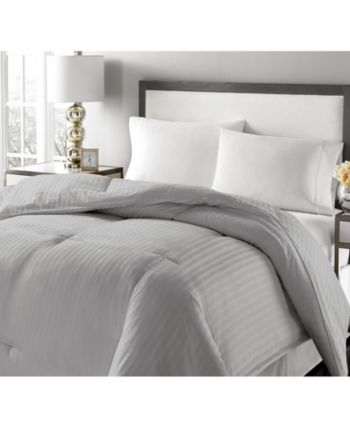 Royal Luxe Luxury Damask Stripe Feather & Down King Comforter & Reviews - Comforters - Bed & Bath - Macy's