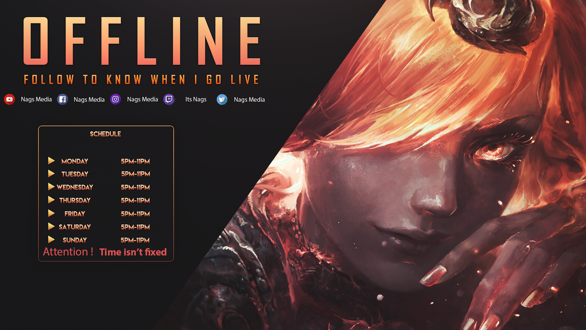 Life style & Work Twitch, Offline, Streaming