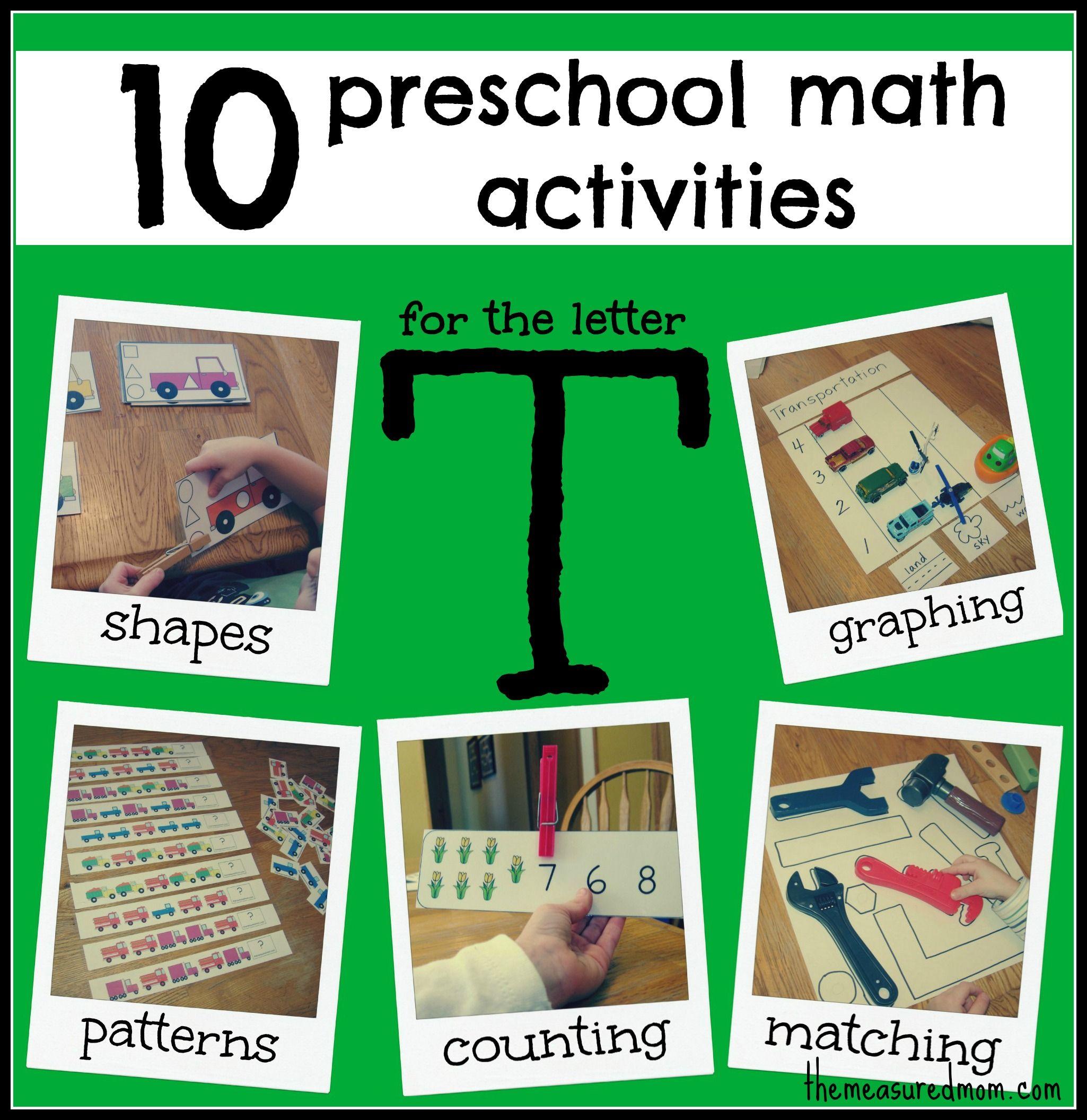 Best 25 Preschool Math Activities Ideas