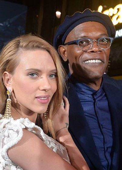 Here S Another Great Shot Of Samuel L Jackson Wearing His Barton Perreira Karlheinz We Love This Frame On Him St Scarlett Johansson Scarlett Captain America