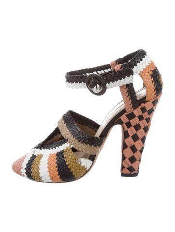 100% original sale online Prada Woven Leather Ankle Strap Pumps marketable sale online best for sale free shipping shop sale wiki RLUDYUMT