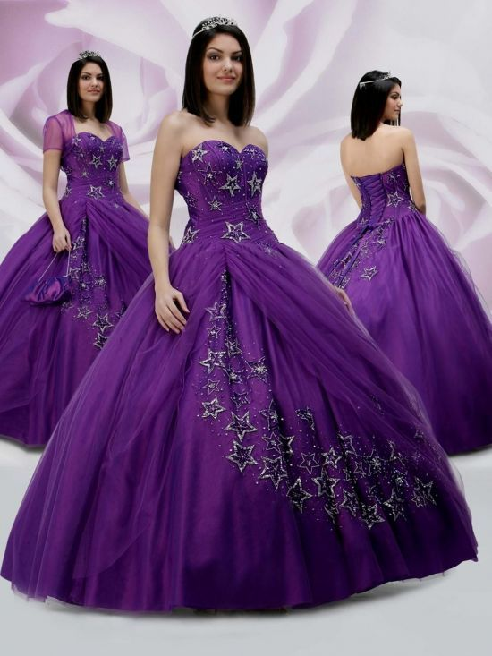 Royal Purple Ball Gown Looks Formal Dresses For Weddings