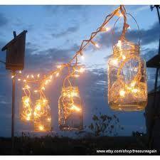 sting of mason jars and lights :)